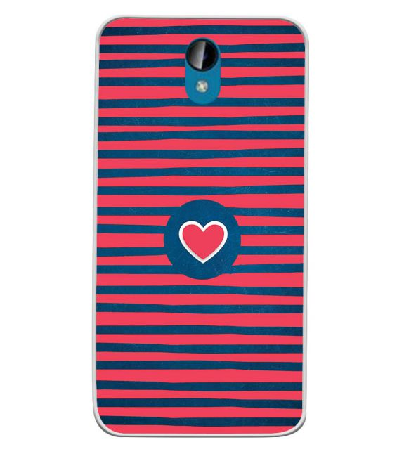 Trendy Heart Back Cover for Intex Lions 6