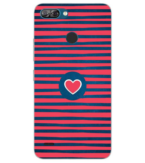 Trendy Heart Back Cover for Itel A46