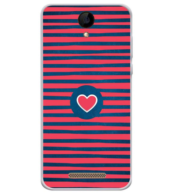 Trendy Heart Back Cover for iVOOMi 505