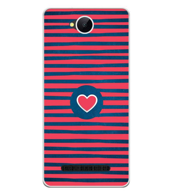 Trendy Heart Back Cover for Karbonn A45 Indian