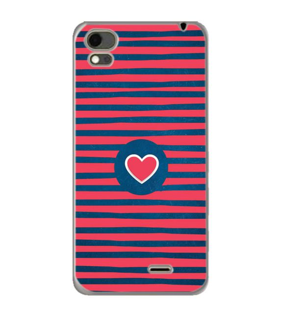 Trendy Heart Back Cover for Karbonn Aura Note 4G
