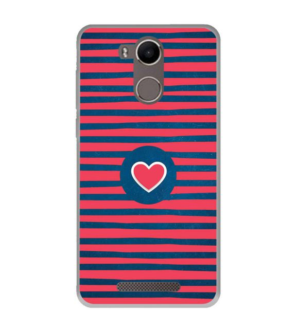 Trendy Heart Back Cover for Karbonn K9 Kavach 4G