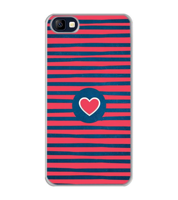 Trendy Heart Back Cover for Karbonn K9 Smart Selfie