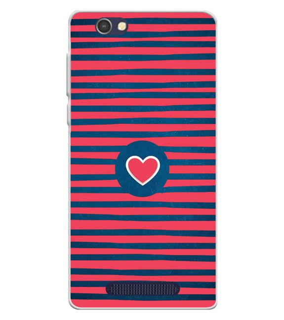 Trendy Heart Back Cover for Lava A72