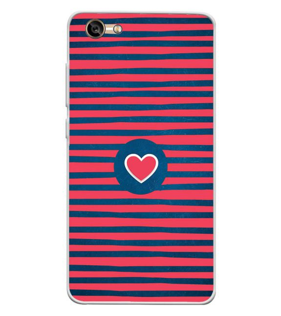 Trendy Heart Back Cover for Lava A77