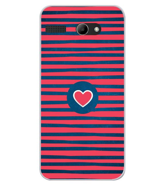 Trendy Heart Back Cover for Lava Iris Atom X