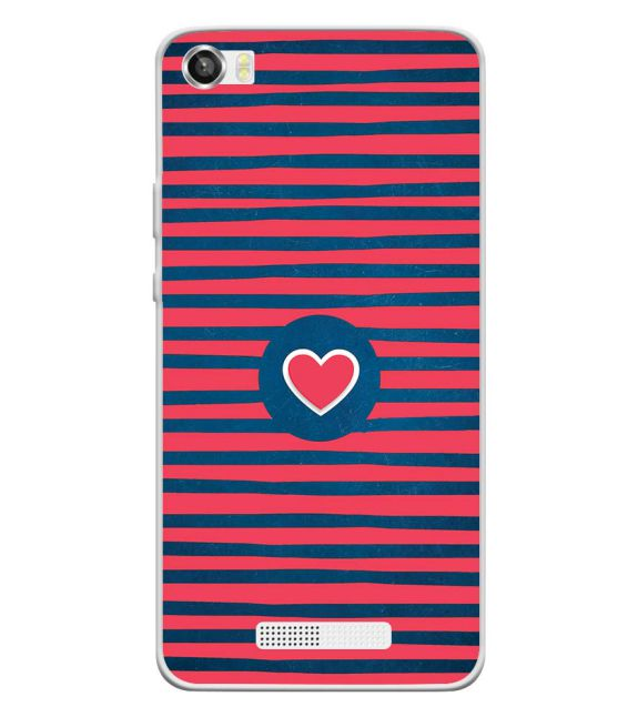 Trendy Heart Back Cover for Lava Iris X8