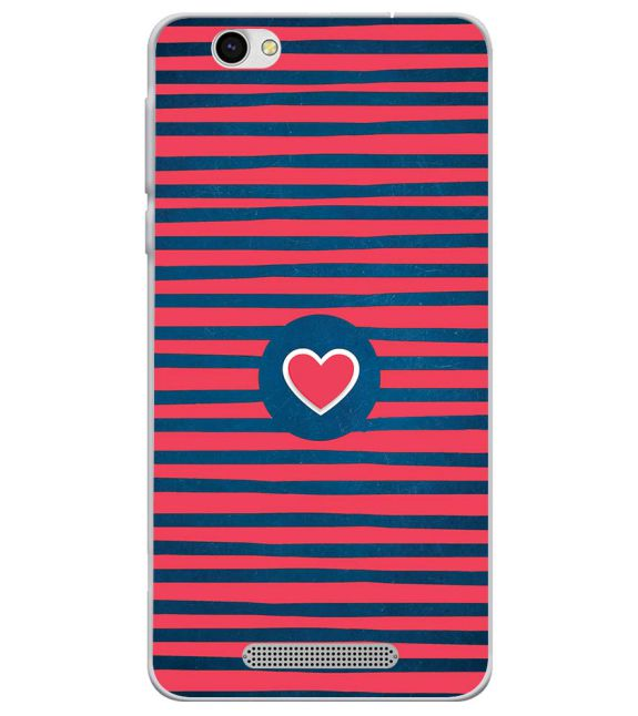 Trendy Heart Back Cover for Lava X28