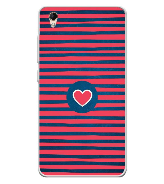 Trendy Heart Back Cover for Lava Z60