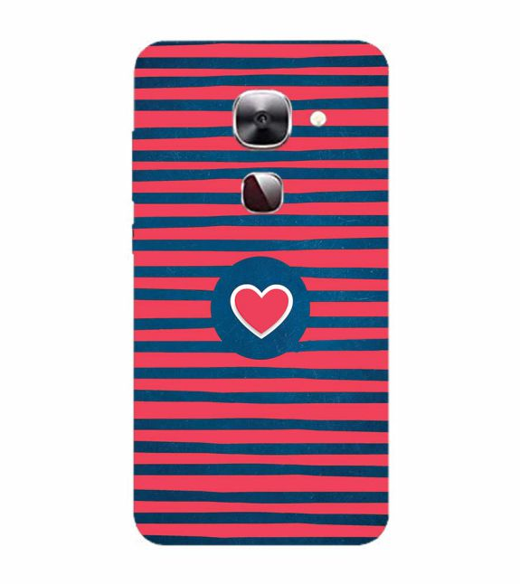 Trendy Heart Back Cover for LeEco Le 2s