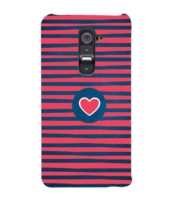 Trendy Heart Back Cover for LG G2