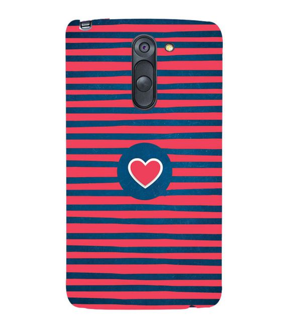Trendy Heart Back Cover for LG G3 Stylus
