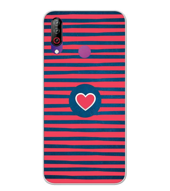Trendy Heart Back Cover for LG W30