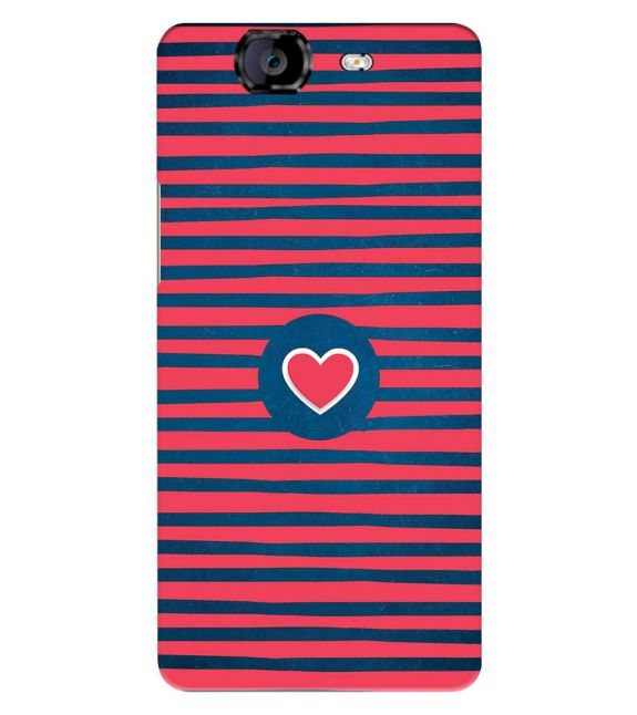 Trendy Heart Back Cover for Micromax A350 Canvas Knight