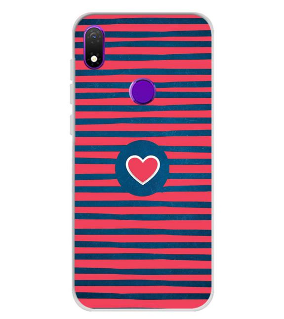 Trendy Heart Back Cover for Mobiistar X1 Notch