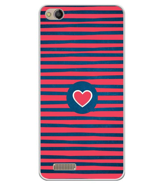 Trendy Heart Back Cover for Mobistar CQ Dual