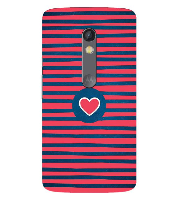 differently a19c1 a8088 Trendy Heart Back Cover for Motorola Moto X Play