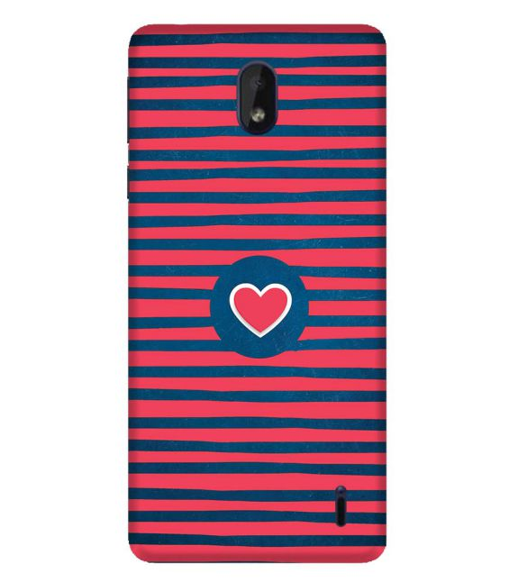 Trendy Heart Back Cover for Nokia 1 Plus