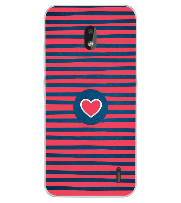 Trendy Heart Back Cover for Nokia 2.2