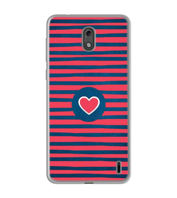 Trendy Heart Back Cover for Nokia 2