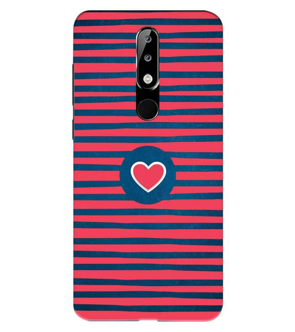 Trendy Heart Back Cover for Nokia 5.1 Plus (Nokia X5)