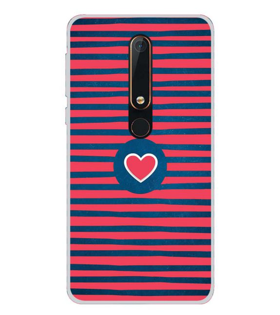 Trendy Heart Back Cover for Nokia 6.1 (2018)