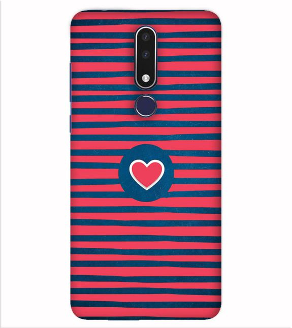 Trendy Heart Back Cover for Nokia 7.1