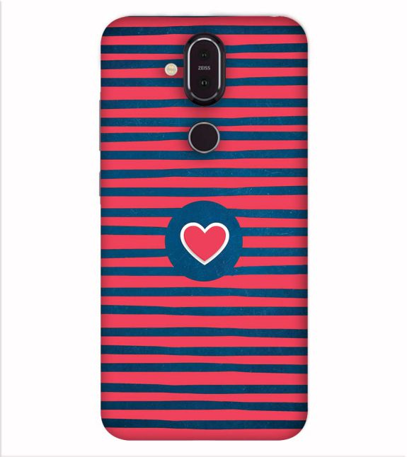 Trendy Heart Back Cover for Nokia 8.1 (Nokia X7)