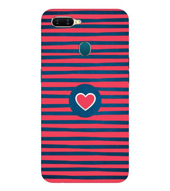 Trendy Heart Back Cover for Oppo A7