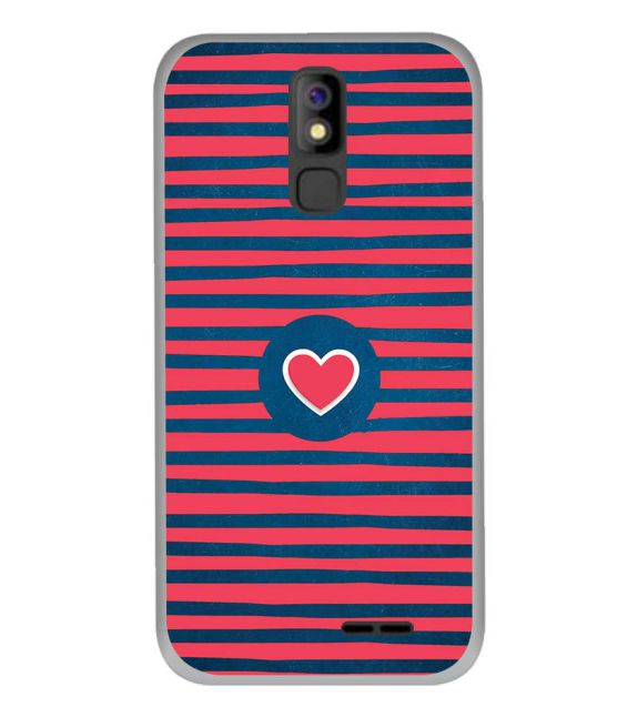 Trendy Heart Back Cover for Panasonic P100