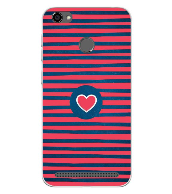 Trendy Heart Back Cover for Panasonic P85 NXT