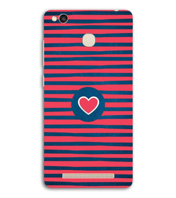 Trendy Heart Back Cover for Redmi 3S Prime (With Sensor)
