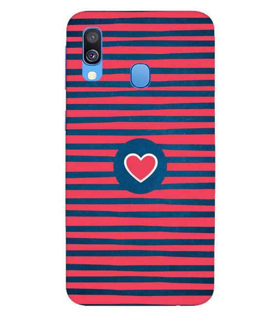 Trendy Heart Back Cover for Samsung Galaxy A40