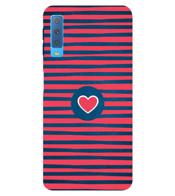 Trendy Heart Back Cover for Samsung Galaxy A7 (2018)