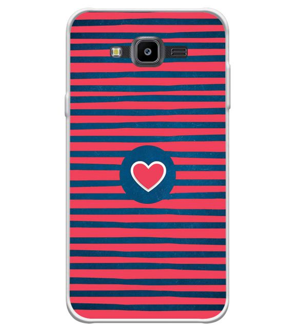 Trendy Heart Back Cover for Samsung Galaxy J7 Nxt