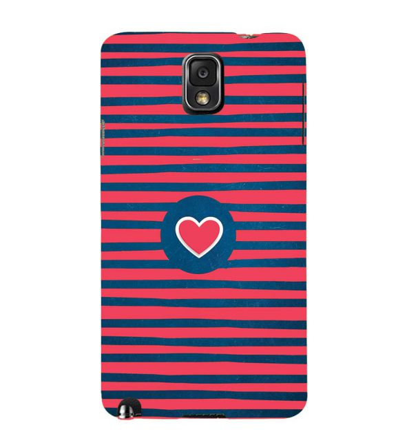 Trendy Heart Back Cover for Samsung Galaxy Note 3