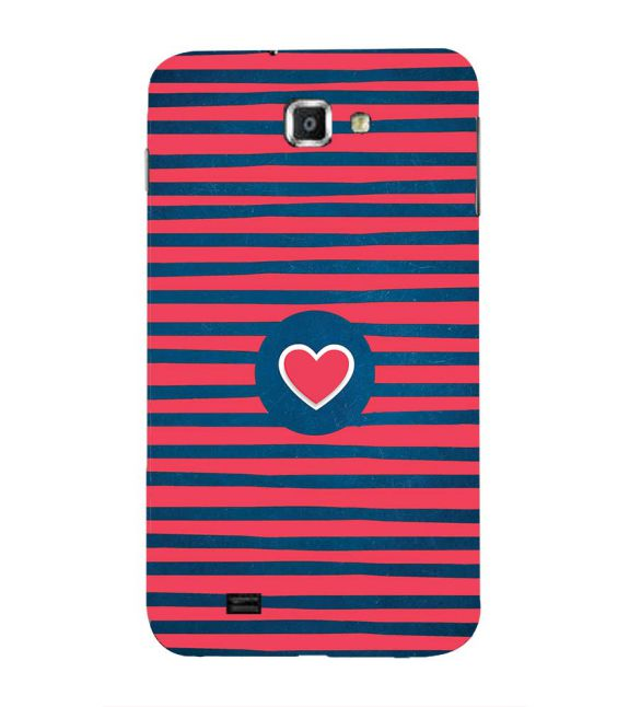 Trendy Heart Back Cover for Samsung Galaxy Note N7000