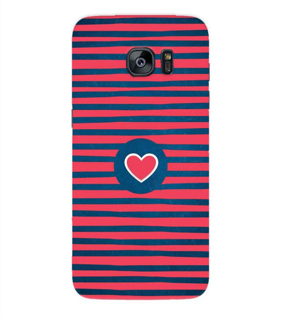 Trendy Heart Back Cover for Samsung Galaxy S7 Edge