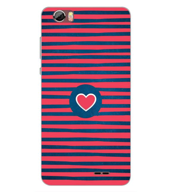 Trendy Heart Back Cover for Sansui Horizon 2