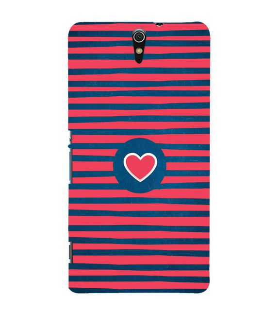 Trendy Heart Back Cover for Sony Xperia C5