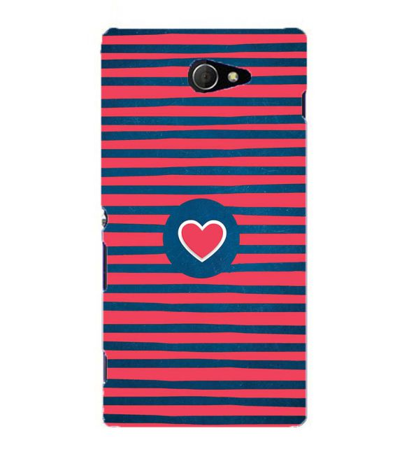 Trendy Heart Back Cover for Sony Xperia M2