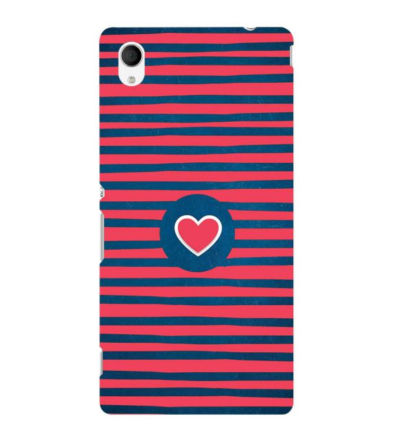 Trendy Heart Back Cover for Sony Xperia M4 Aqua