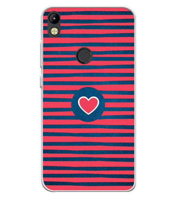 Trendy Heart Back Cover for Tecno Camon I