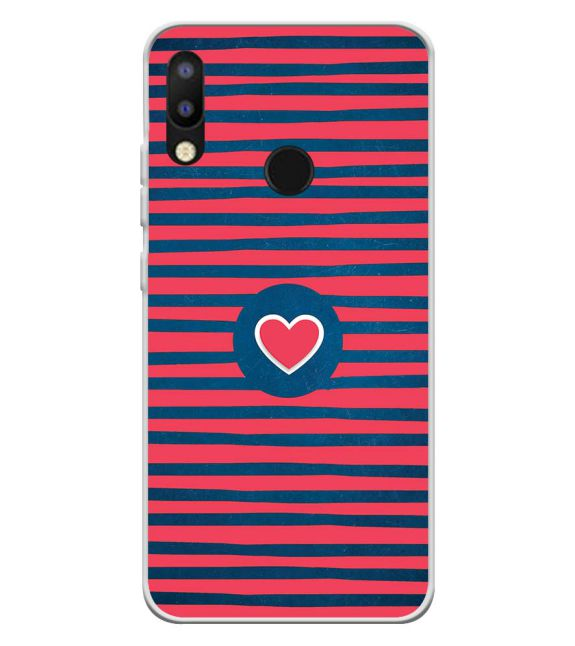 Trendy Heart Back Cover for Tecno Camon iAir 2+