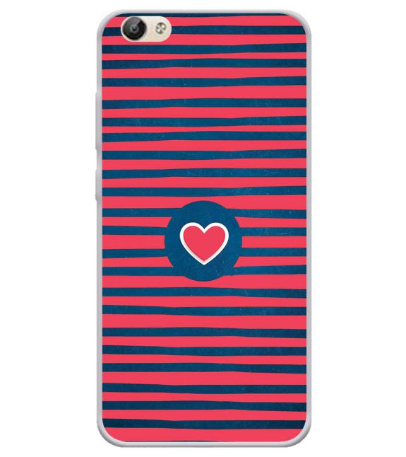 Trendy Heart Back Cover for Vivo Y66