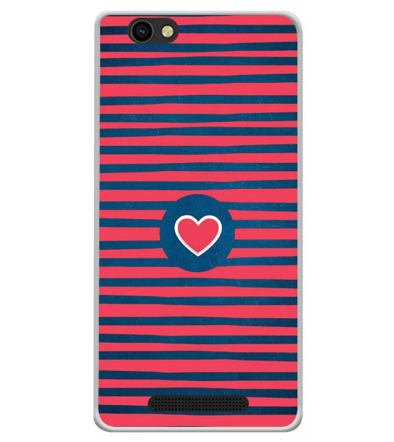 Trendy Heart Back Cover for Xolo ERA X