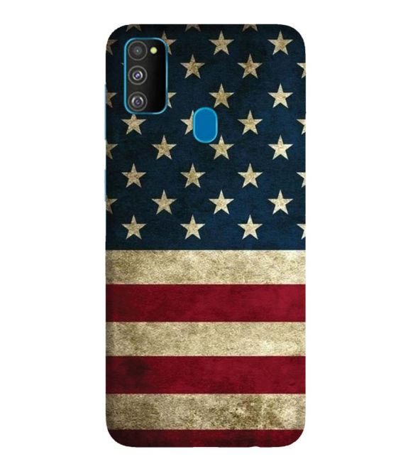 US Flag Theme Back Cover for Samsung Galaxy M30s