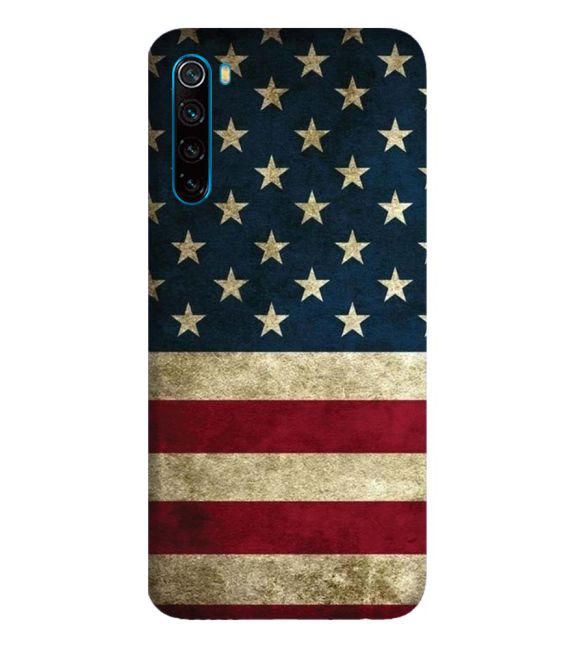 US Flag Theme Back Cover for Xiaomi Redmi Note 8