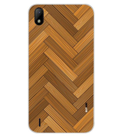 Wood Pattern Back Cover for Lava Z41