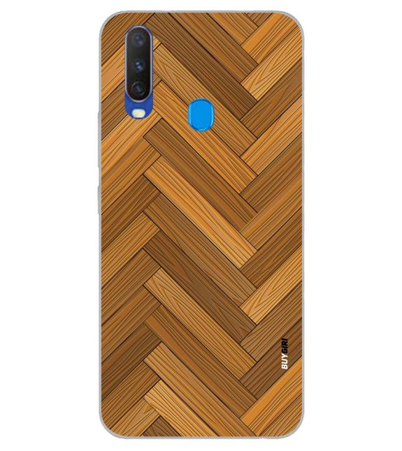 Wood Pattern Back Cover for Samsung Galaxy A60